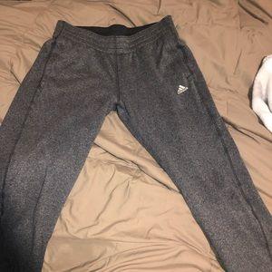 Gray adidas sweats